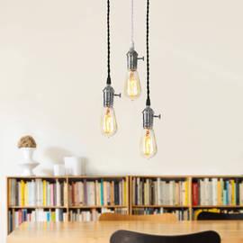 Tillary Single Socket Hanging Lamp with Vintage Bulb