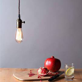 Tillary Single Socket Hanging Lamp with Vintage Bulb