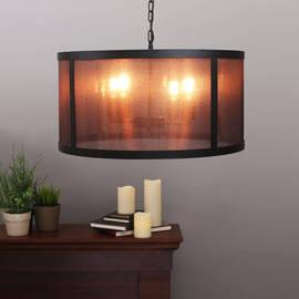 4-Light Nylon Mesh Chamber Pendant