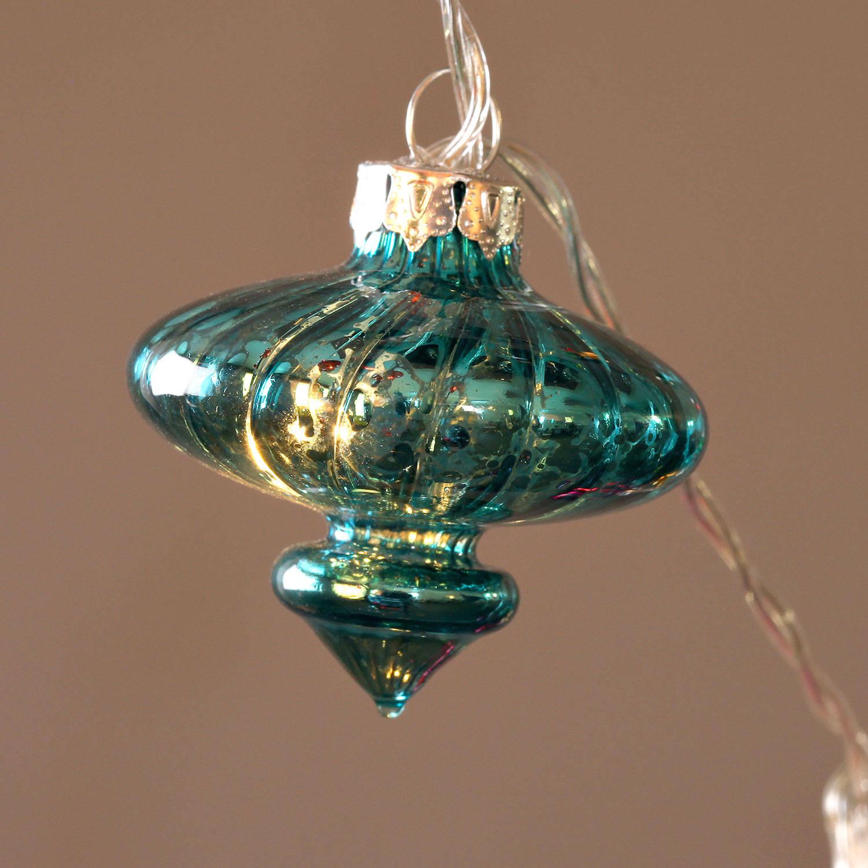 Lights.com Lit Decor String Lights Battery String Lights Vintage Multicolor Glass ...