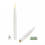 Smooth White Tall Resin Taper Candles with Remote, Set of 4