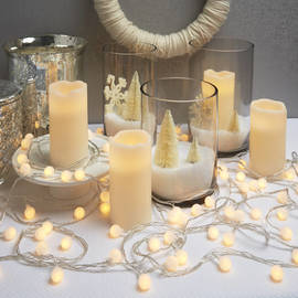Frosted Globe Battery String Lights with Timer, Strand of 100