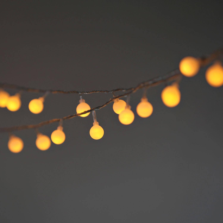 Globe String Lights Warm White : Lights.com Lit Decor String Lights Vintage String Lights Frosted Warm White Globe String ...