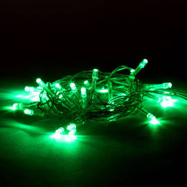Extra Bright Green 30 LED Battery String Lights, Set of 3