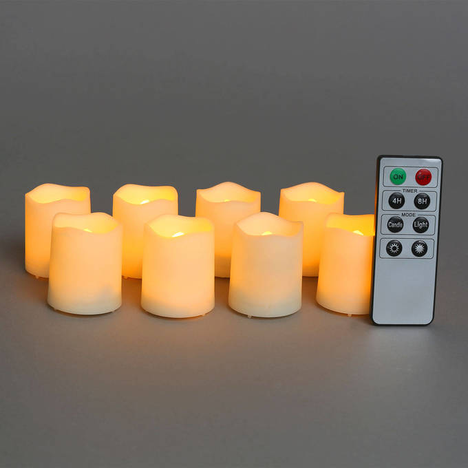 flameless candles tea lights votives melted edge. Black Bedroom Furniture Sets. Home Design Ideas