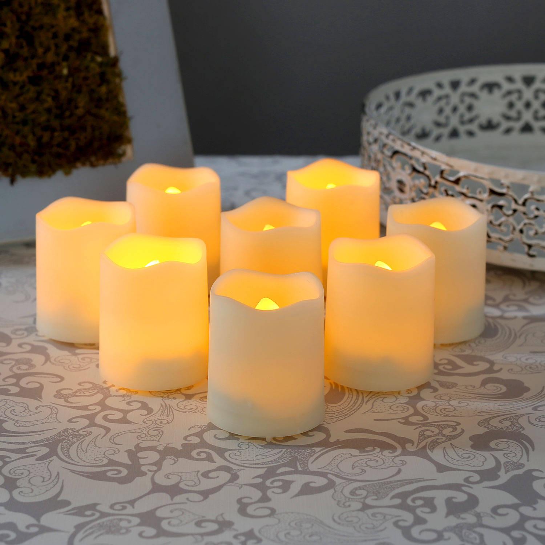 flameless candles tea lights votives melted edge flameless resin mini votives. Black Bedroom Furniture Sets. Home Design Ideas
