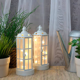 Holographic Star String Light Lanterns