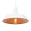 Modern Farmhouse Hanging Pendant with Bulb, White Gloss