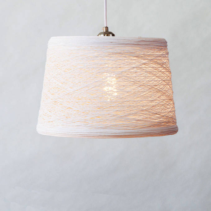 Modern String Hanging Lamp Pendant with Vintage Bulb