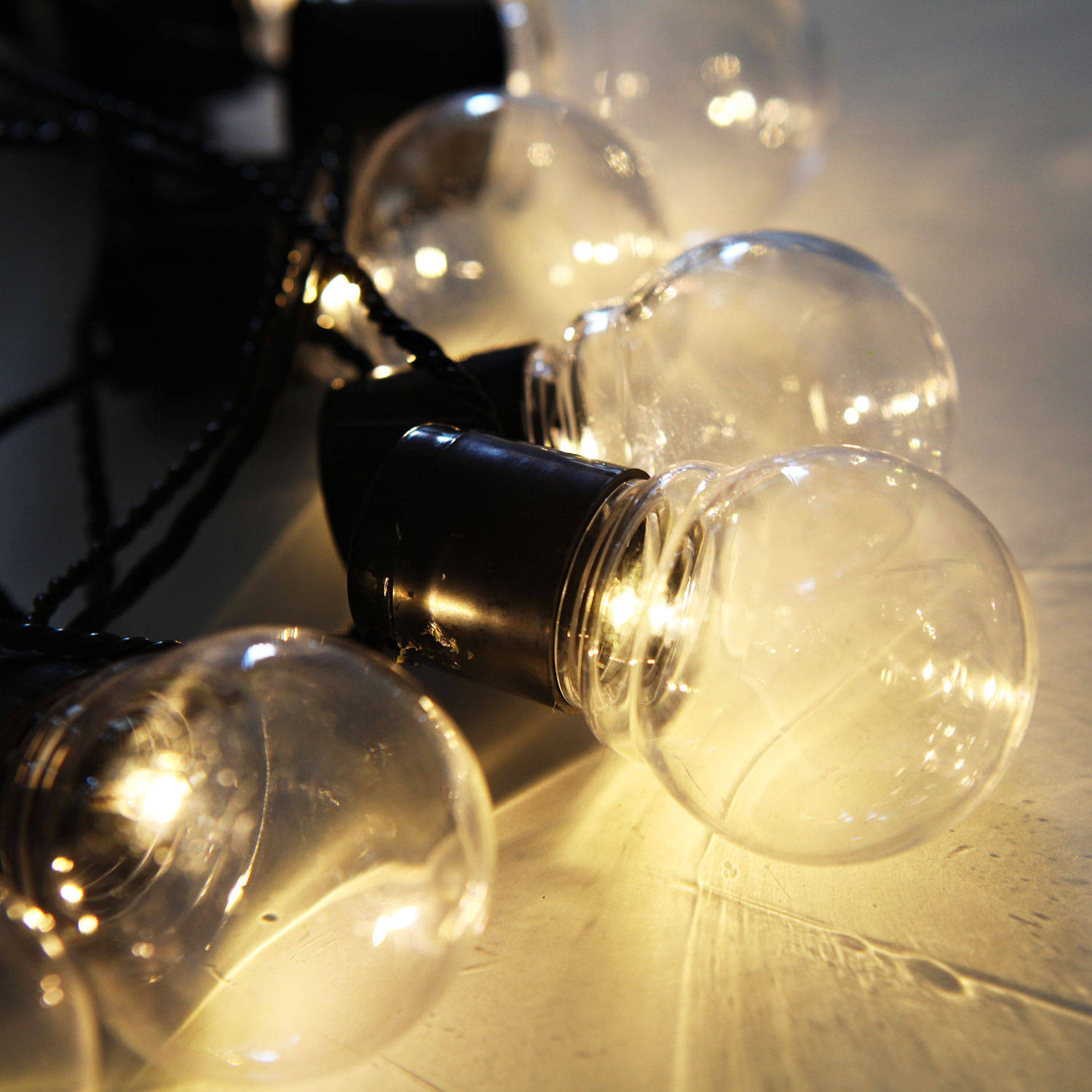 String lights decorative string lights clear globe connectable plug in festoon - Decorative garden lights ...
