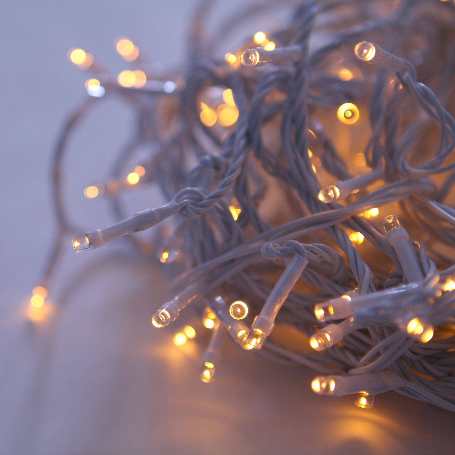 Lights.com String Lights Christmas Lights Warm White 200 LED Connectable White Cable ...