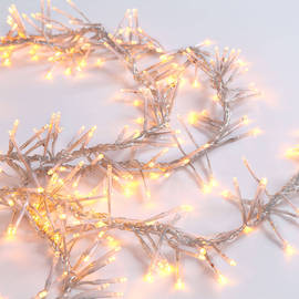 Warm White 440 LED Plug-in Connectable Cluster String Lights