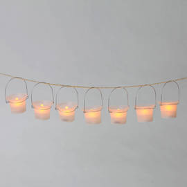 Frosted Mini Warm White Hanging Party Lanterns, Set of 25
