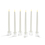 """Ivory Wax 10"""" Vigil Taper Candles with Glass Candleholders, Set of 6"""