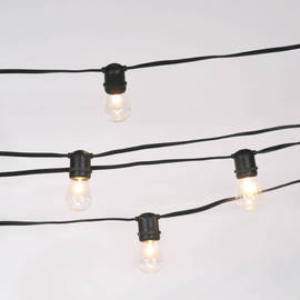 Connectable Heavy Duty 24-Socket Vintage Light Strand with Bulbs