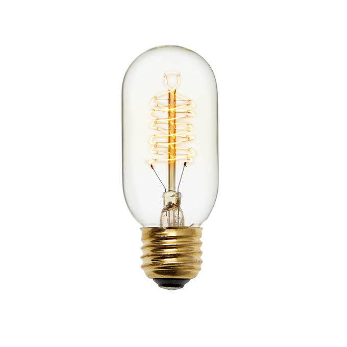 Kensington T14 Vintage Edison Bulbs, 40W (E26) - Set of 4
