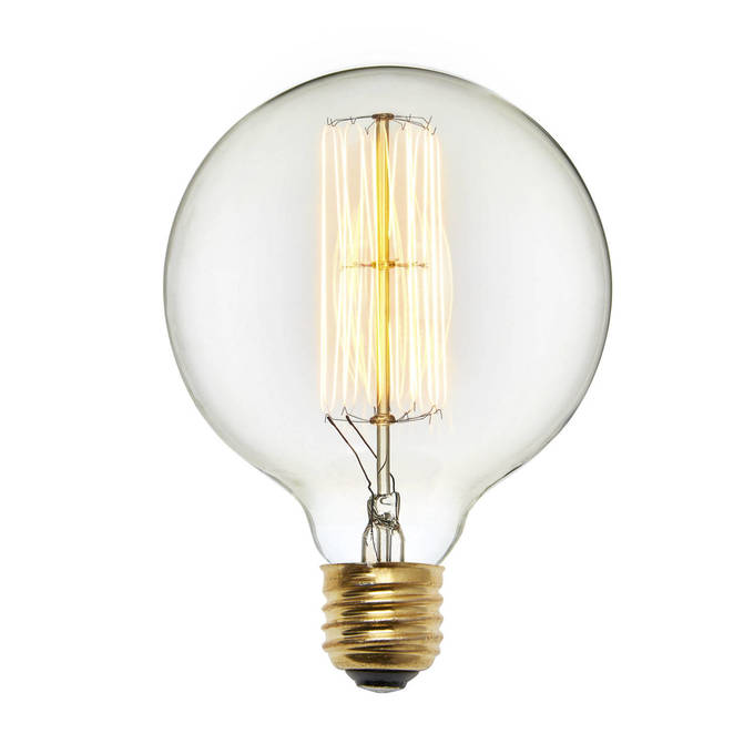 Bedford G40 Vintage Edison Bulbs, 40W (E26) - Set of 2