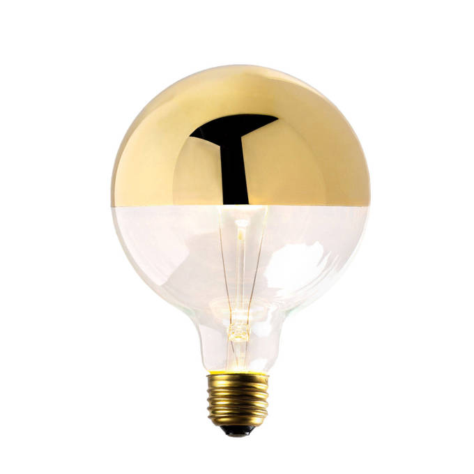 Gold-Tipped G40 Incandescent Bulbs, 40W (E26)