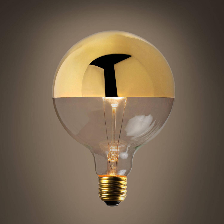Lights.com Bulbs Decorative Bulbs Gold-Tipped G40 Incandescent Bulbs, 40W (E26) - Set of 2
