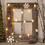 Winter White 10 LED Christmas Tree Battery String Lights, Set of 3