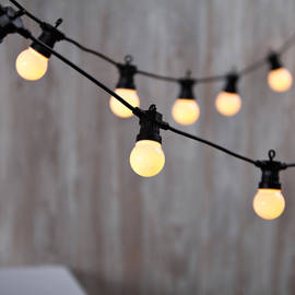 Warm White Connectable Festoon Plug-in Globe Lights, Strand of 20