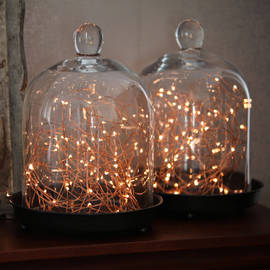 300 Warm White Starry LED Copper Wire Plug-in String Lights with Timer