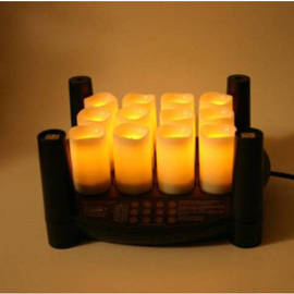 "Easy Stack 3"" Rechargeable Votives,  Set of 12 with Power Cord"