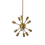 Sputnik 12-Light Chandelier, Aged Brass