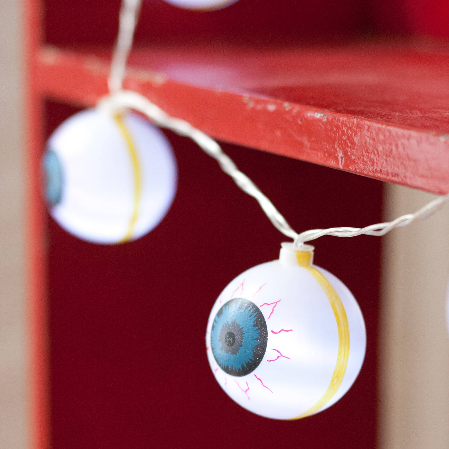 Lights.com Lit Decor Seasonal Halloween Eyeball 10 LED Battery Operated String Lights, Set ...
