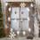 Mirrored Santa 10 LED Battery String Lights, Set of 3