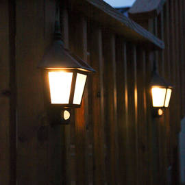 Outdoor Warm White Solar Sconce with Motion Detection, Set of 2