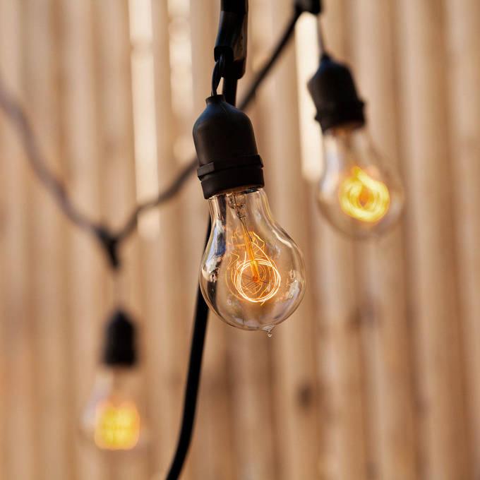 Lights.com String Lights Vintage String Lights Coney Island A19 Heavy Duty 10-Socket ...