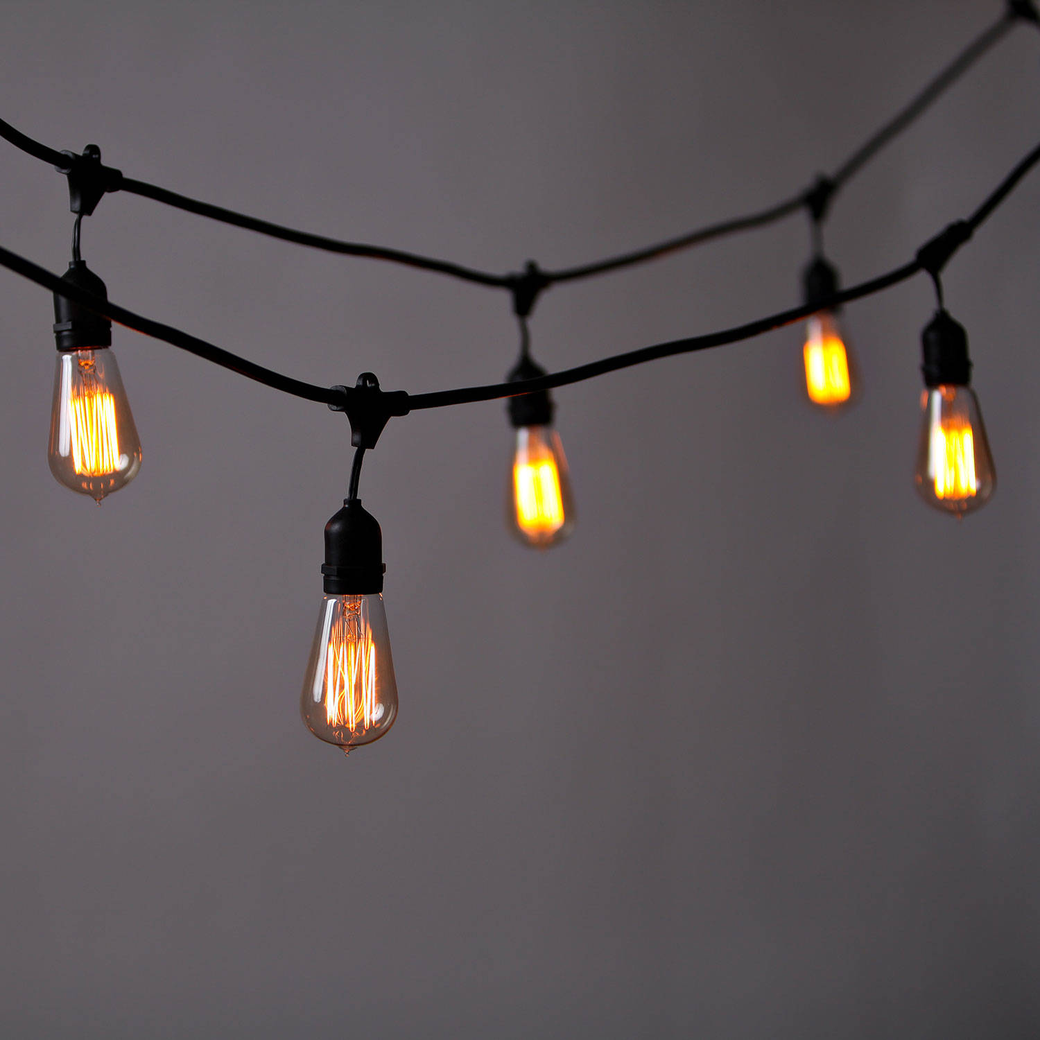 Vintage String Lights With Bulbs - Vintage String Lights Bulbs Not Included Commercial Grade ...