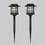 Brown Metal Solar Path Light with Wall Sconce Converter, Set of 2