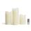 Touchstone Double LED Melted Edge Pillar Candle, Set of 3