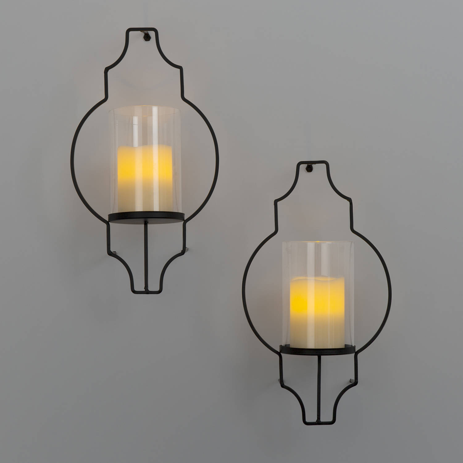 Wall Sconces With Flameless Candles : Lights.com Flameless Candles Pillar Candles Hurricane Glass Flameless Candle Wall Sconce ...
