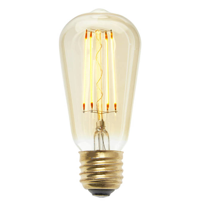 Bushwick LED ST19 Vintage Edison Bulbs, 1.7W (E26) - Set of 2