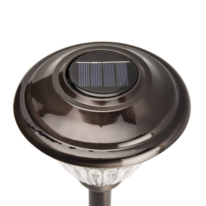 outdoor solar lights warm white bronze solar path lights set of 6. Black Bedroom Furniture Sets. Home Design Ideas