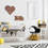 Vintage Metal 24 LED Marquee Heart Battery Light with Timer