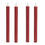 "Burgundy 10"" Push-Activated Wax Taper Candles with Remote, Set of 4"
