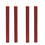 "Victoria Burgundy 10"" Textured Flameless Taper Candles, Set of 4"