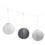 "Slate Garden Grey 12"" Solar Lanterns, Set of 3"