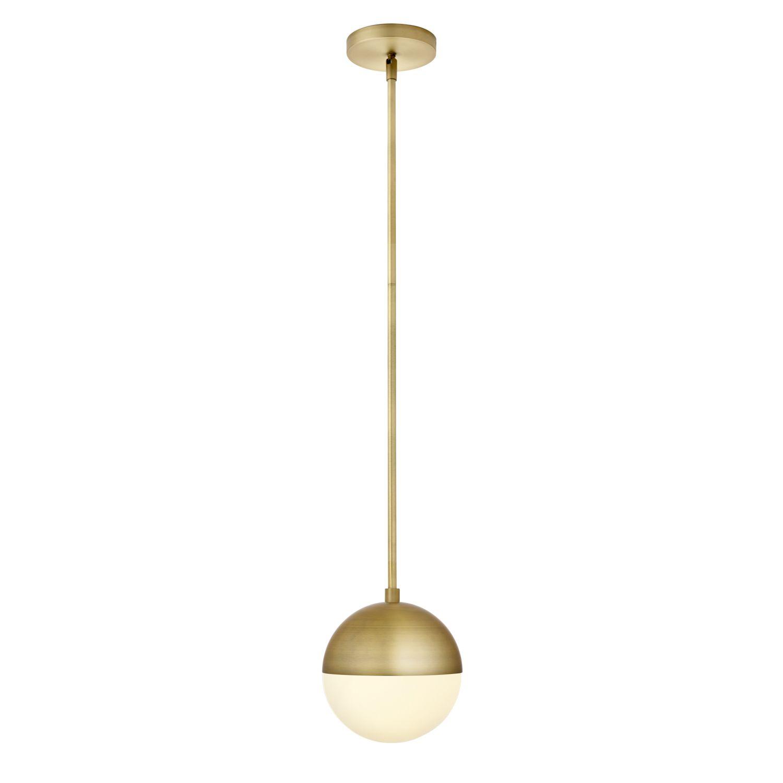 7 led aged brass globe pendant 814911020725 ebay 7 034 led aged brass globe pendant aloadofball Choice Image