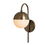 Powell Wall Sconce with Hooded White Globe, Bronze