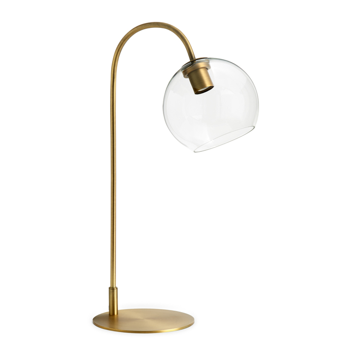 Shop Celeste Table Lamp with Clear Globe, Aged Brass from Lights.com on Openhaus