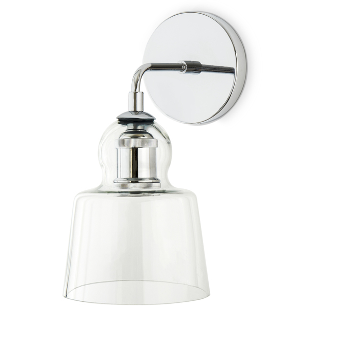 Drawstring Wall Lights : Lights.com Wall Lights Hoyt Wall Sconce with Tapered Bell Glass, Chrome