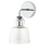 Hoyt Wall Sconce with Tapered Bell Glass, Chrome