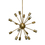 16-Light Sputnik Pendant in Aged Brass, Medium
