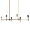 Prospect 6-Light Linear Chandelier, Bronze