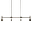 Prospect 4-Light Linear Chandelier, Bronze